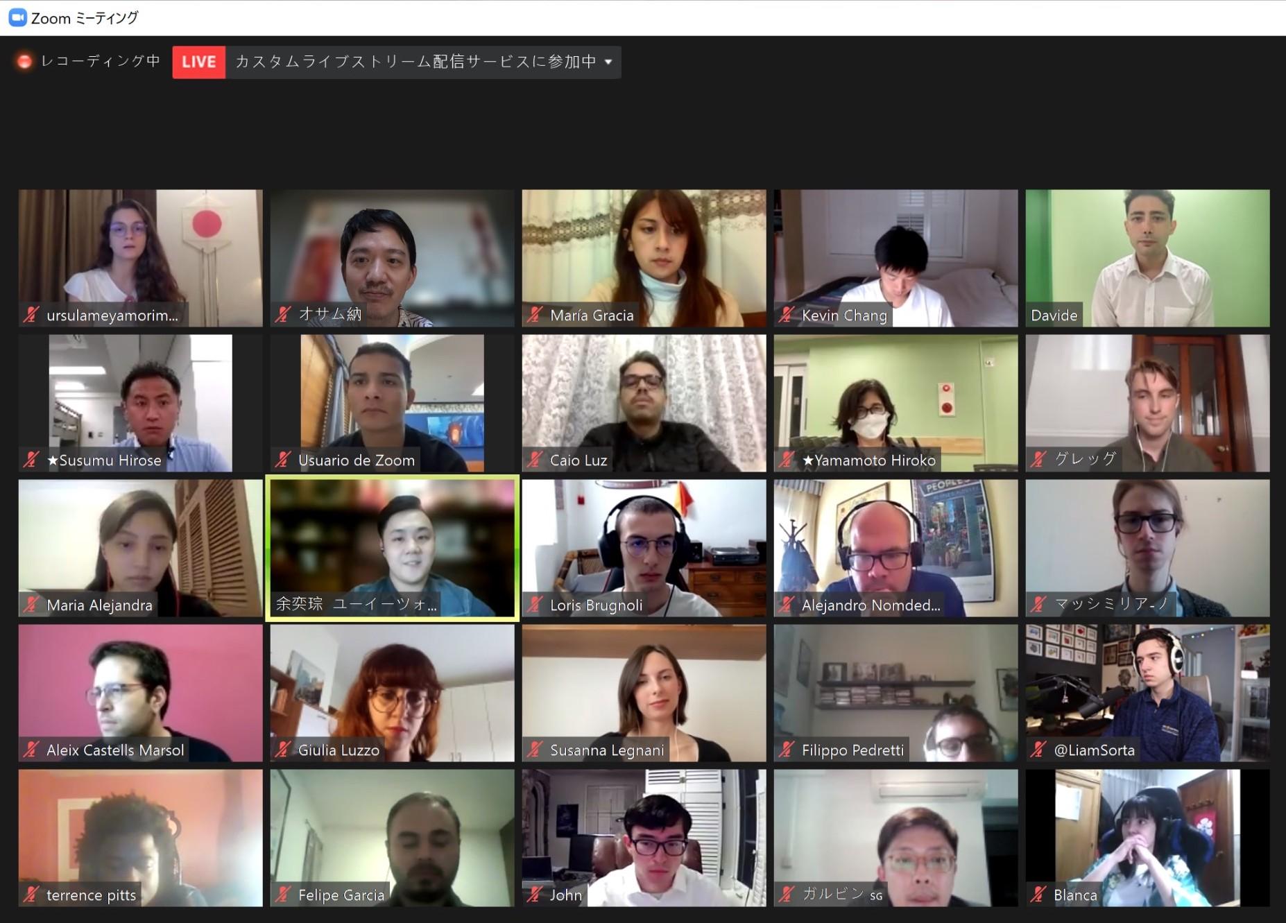 NHK報導:無法入境日本的各國留學生線上交流會表達心聲
